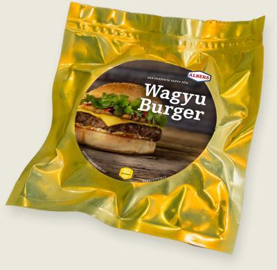 Jack's Creek Wagyu-Burger in Goldfolie