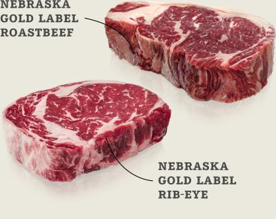 Nebraska Gold Label Roastbeef und Entrecôte-Paket